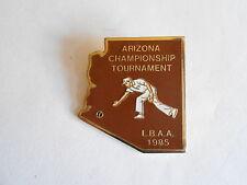 Vintage 1985 LBAA Arizona Lawn Bowling Championship Enamel Pinback Pin