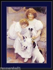 Picture Print Jack Russell Terrier Dog Puppy Girls puppies dogs Poster Art