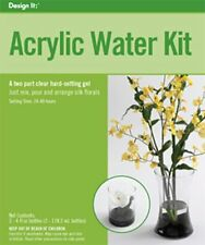 FloraCraft Floral Accessories Acrylic Water Kit Two Part Clear, Hard- Gel
