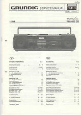 Grundig service INSTRUCTIONS MANUAL rr 9000 CD b788