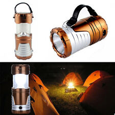 2-in-1 3W LED Solar Powered Camping Tent Lights Torch Lantern Flashlight Lamps