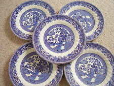 Myott Meakin England porcelain blue and white plate,set of 5