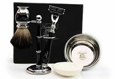 Newly Designed Shaving set of 5 For Men's With Pure Badger Hair & GilletteMach 3