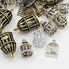 30g Metal Alloy Steampunk Birdcage Charms Mixed Colour Pendants (BOX135)