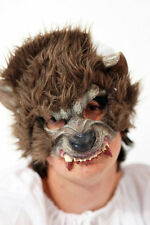 Fairytale-Nursery Rhyme-Evil-Halloween BIG BAD WOLF-WEREWOLF HALF FACE MASK