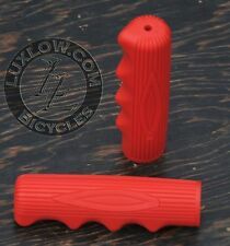 Red Vintage Schwinn Stingray Type Bike Grips Lowrider Muscle Bicycle Cruiser