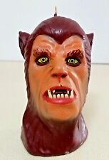 VINTAGE HALLOWEEN WOLFMAN CANDLE WAX NOVELTY PARTY TABLE HOME DECOR
