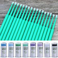100PCS Blue Dental Disposable Micro Applicator Brush Bendable Sticks Tools
