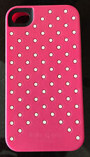 Kate Spade  iPhone 4/4S silicone case Pink with white dots