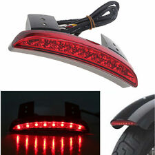 Fender Edge Brake Tail Light For Harley Sportster XL 883 1200 Red Lens
