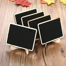 10xMini Wooden Blackboard Chalkboard Message Wedding Party Labels Table Decor