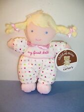 CARTER'S CHILD OF MINE - MY FIRST DOLL - BLONDE HAIR -  WHITE/HEARTS/PINK - NWT