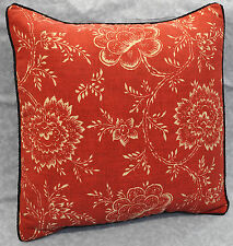 Pillow made w Ralph Lauren Cold Spring Red Floral Fabric 18x18 trim cording NEW