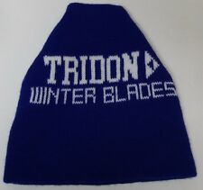 Retro Vtg 1980s TRIDON WINTER BLADES SNOW ADVERTISING KNIT STOCKING CAP HIPSTER