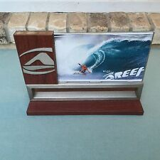 "AWESOME REEF DESK NAME PLATE MAGNETIC REMOVEABLE WOOD WOODEN MICK FANNING 8""X11"""