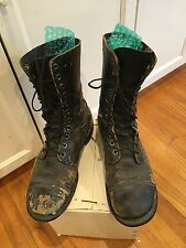Vintage Men's Engineer Combat Jump Motorcycle Boots Leather