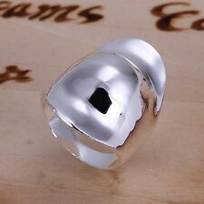 Modern Women 925 Sterling Silver Plated Fashion Thumb Band Solid Ring Jewelry 8