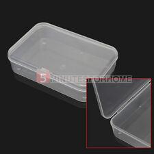 2 Scatoline Scatole Contenitori Trasparenti Plastica con Coperchio Salvaspazio