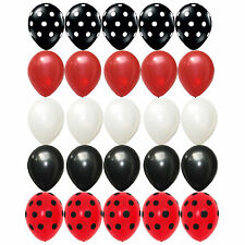 25X Latex balloons Mickey Mouse Polka dots Black red white kid birthday Supplies