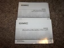 2012 GMC Acadia Owner User Guide Operator Manual SL SLE SLT 1 2 Denali 3.6L V6