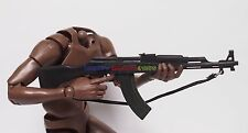 "1 x New 1/6 Scale AK47 Assault Rifle Gun For 12"" Action Figure - All Black"