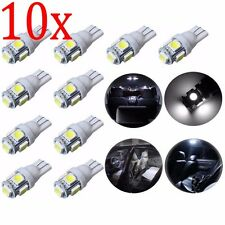10x T10 LED White 501 5050 W5W 5 SMD Canbus Car Side Wedge Tail Light Bulbs UK