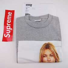 NEW SS12 Supreme Kate Moss Tee T-Shirt Grey Box Logo Size: Medium 100% Authentic