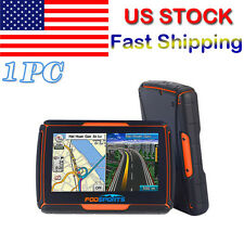 """Bluetooth Motorcycle GPS Navigation 8GB Waterproof 4.3""""Touch Screen+Free Maps US"""