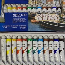 12 PC ACRYLIC ARTISTS PAINTS SET HOBBIES CRAFTS MODEL BRUSH LINE PAINTING AIR