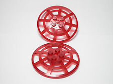 LEGO Set of 2 Trans-Red Dish 6 x 6 Inverted (Radar) Webbed - Type 2 Alpha Team
