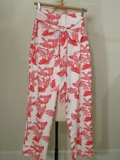 Vintage Lilly Pulitzer The Lilly Coral Red & White Koi Fish Pants - S/M