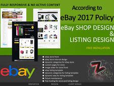 Completo Profesional personalizado de eBay Tienda / diseño de la tienda y servicio de instalación