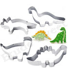 4PCS Stainless Steel Dinosaur Cookies Cutter Biscuit Pastry Cake Fondant Moulds