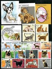 DOGS / CATS COLLECTION  used x3 SETS (17  STAMPS) + 4 S/S