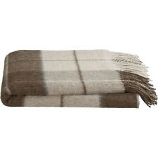 Crate & and Barrel MATEO PLAID ALPACA Throw- NEUTRAL COLORS! New with tags!