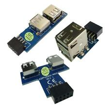 9 / 10pin Mainboard USB 2.0 Female Header to Dual USB2.0 Port Adapter Converter