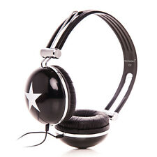 STAR OVERHEAD DJ HEADPHONES EARPHONES FOR CHILDRENS KIDS BOYS GIRLS TEENS Black