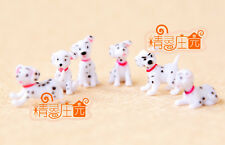 Dollhouse Miniature TOY Animals Pets Plastic Spotty Dogs Dalmatians 6pcs