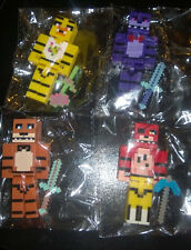FNAF Five Nights at Freddy's Minecraft style 4pcs building blocks figures toy