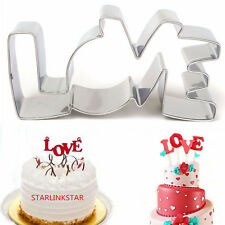 Stainless Steel LOVE Biscuit Cookie Fondant Pastry Mold Cutter Cake Decorating