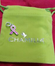 Brand new chamilia breast cancer pink enamel 2020 0758