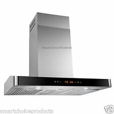 """30"""" Stainless Steel Wall Mount Range Hood Cooking Fan Stove Kitchen Vents LED"""