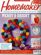 HOMEMAKER MAGAZINE ISSUE 38. 2015.  FREE CROCHET CHRISTMAS BOOKLET.