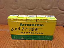Lot Of 5 New Old Stock Amperex 12AX7A ECC83 Preamp Tubes