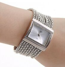 2016 Fashionable Women /Lady Diamond Bracelet Watch Silver Band White Dial GIFT