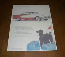 1956 OLDSMOBILE NINETY-EIGHT COLOR AD PRINT