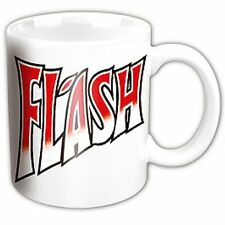 QUEEN WHITE FLASH MUG - Flash Gordon Freddy Mercury Brian Blessed - SCI FI