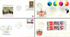 Netherlands Stamps - 4 First Day Covers from 1970s - Erasmus, Toy Blocks 30