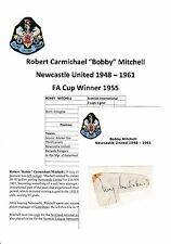 BOBBY MITCHELL NEWCASTLE UNITED 1948-1961 RARE ORIGINAL HAND SIGNED CUTTING