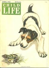 CHILD LIFE April 1941 - JACK RUSSELL TERRIER COVER, ANDY HARDY MOVIE REVIEW